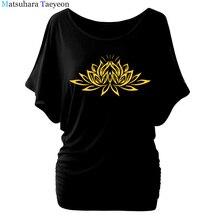 美しい蓮女性コットンtシャツファッションプリント夏のtシャツすべて一致oネック半袖カジュアルtシャツベースtシャツ