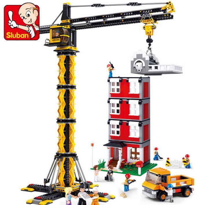 1461 шт. Город Строительство кран башня 3D модель здания Конструкторы игрушечные лошадки лучшие подарки для детей legoings