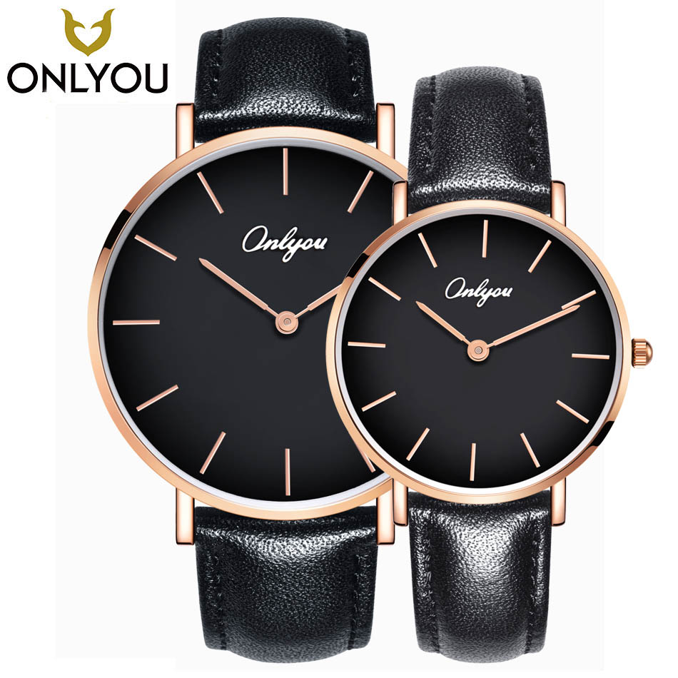 ONLYOU Lovers Watches Ladies Fashion Caual Wristwatch Women Luxury Quartz Clock Men Business Waterproof Watch Wholesale onlyou men s watch women unique fashion leisure quartz watches band brown watch male clock ladies dress wristwatch black men