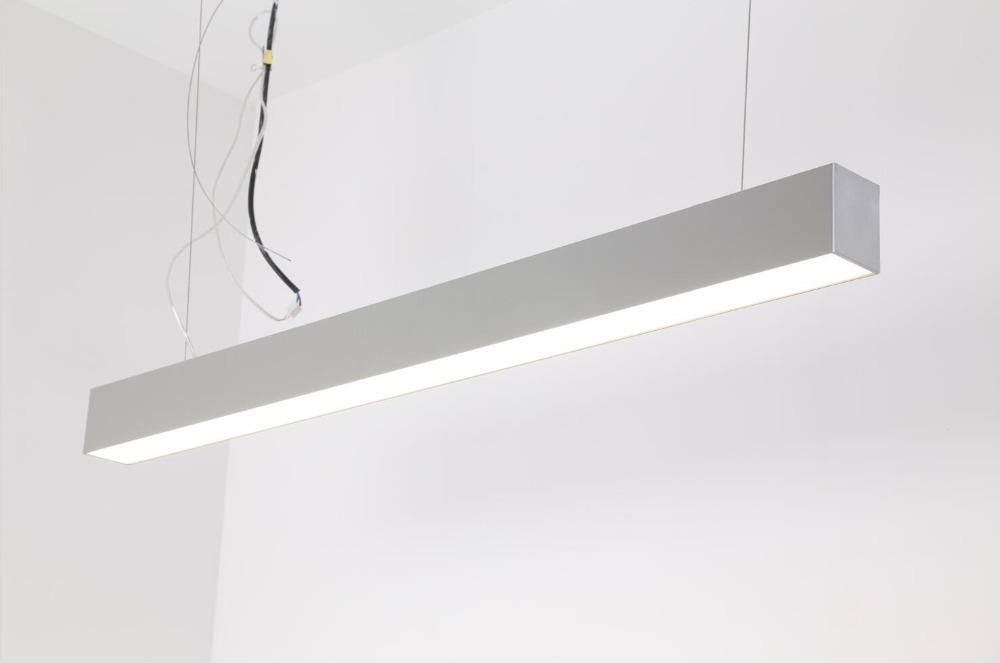 Free Shipping OEM LED linear pendant light 1.2m40W led linear lighting system 3 years warranty white and silver housing цена и фото