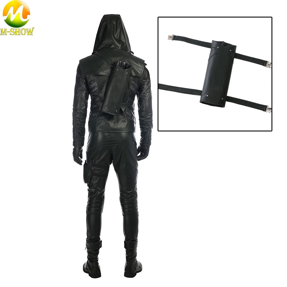 Green Arrow Season 5 Prometheus Cosplay Costume Prometheus Cosplay Leather Quiver Halloween Costume Accessories Quiver