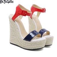 DiJiGirls Summer women high heel shoes Wedges women sandals Fashion Party pumps Shoes women high heel sandals ladies shoes