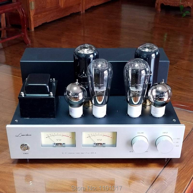 LaoChen 845 Tube Amplifier HIFI EXQUIS Single-Ended Class A 300B 6SN7 Driver Flagship Lamp Amp oldbuffalo 300b signal ended tube amplifier hifi exquis black aluminum chassis 4 way lamp amp