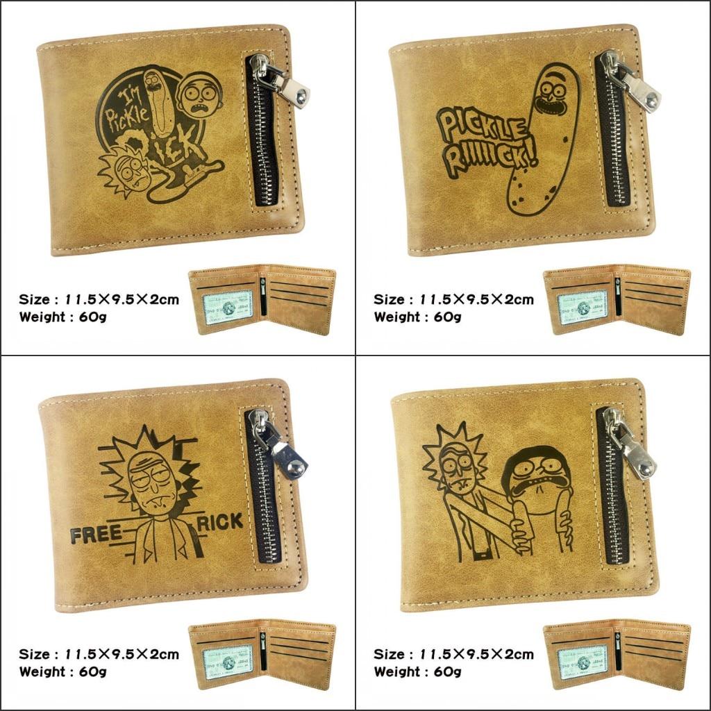 New Design Anime Rick and Morty Short Wallet Student Pickle Rick Coin Purse Card Holder Men Wallet Handbags wallet