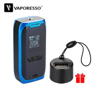 Original 220W Vaporesso Revenger TC Box MOD with 220W Max Output & 0.96 inch OLED Display & Charging Adapter E cig Vape Mod