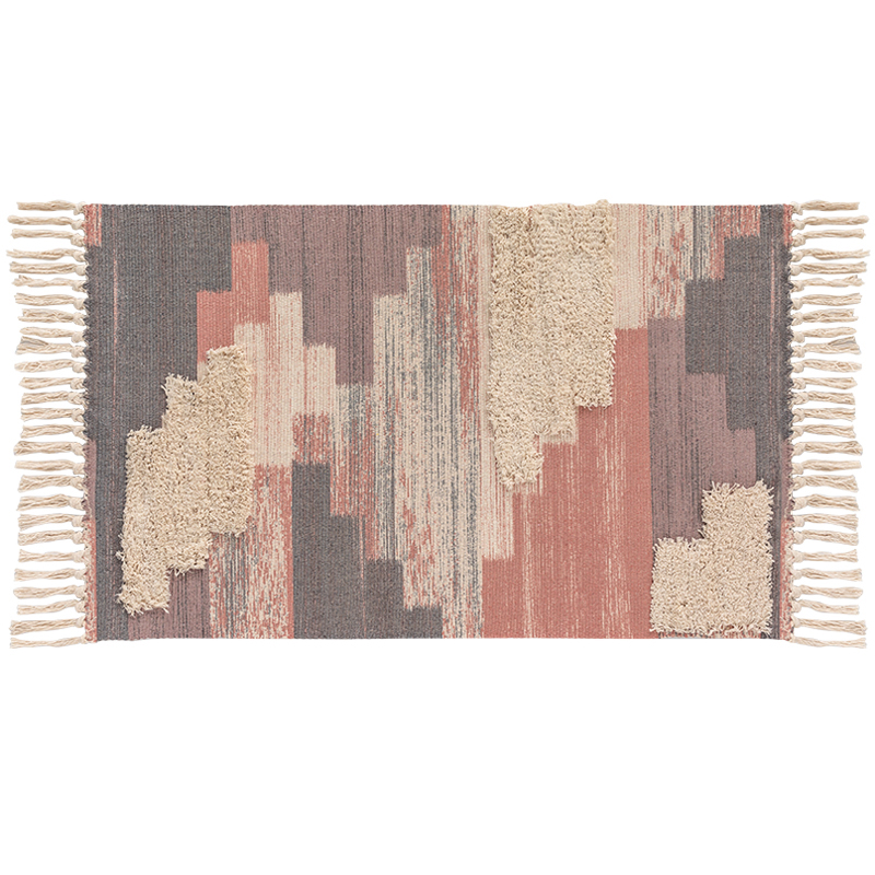 Morocco Bohemian Tufting Handmade Rug Tassels Abstract Plaid Soft Carpet Washable Durable Multi-function Area Rugs For Bedroom