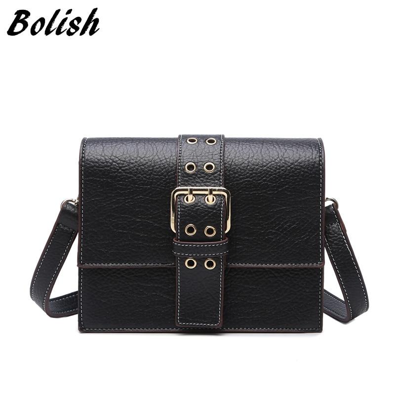 Bolish Brand Casual Pu bolso de cuero de las mujeres bolso de hombro - Bolsos