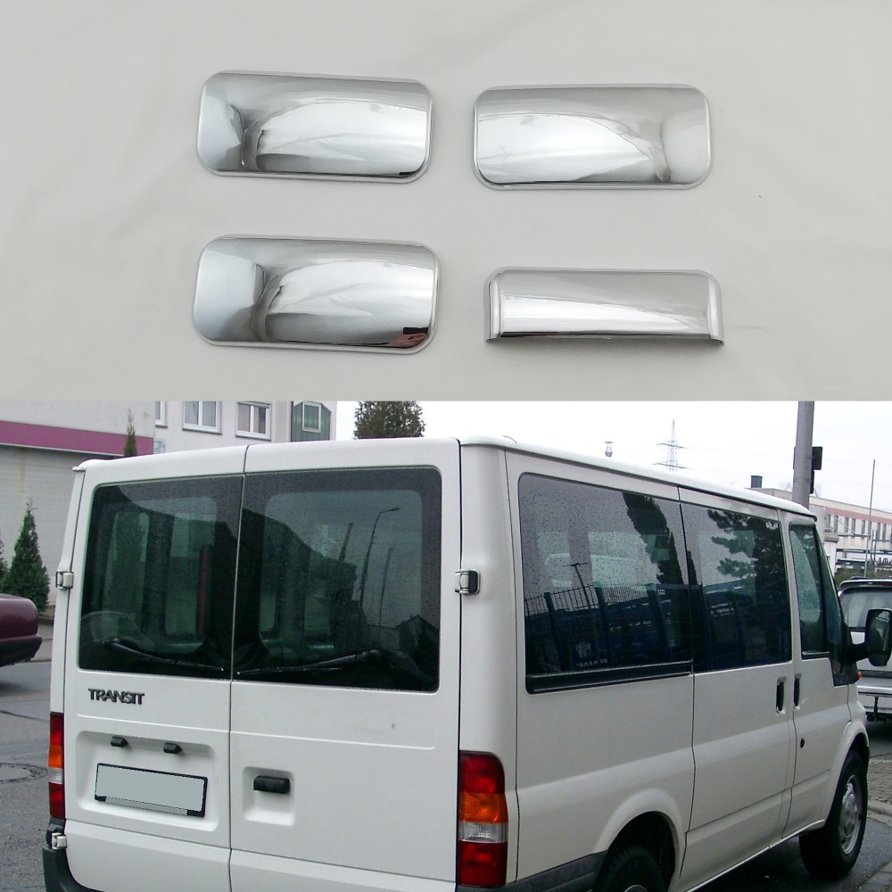 For Ford Transit Tourneo 2000-2014 High Quality Door Handles Bowl Cover ABS Plastic Chrome Plating 4PCS