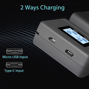 Image 5 - Chargeur de batterie de caméra PALO NP FW50 npfw50 fw50 LCD double chargeur USB pour Sony A6000 5100 a3000 a35 A55 a7s II alpha 55 alpha 7 A