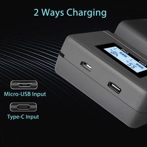 Image 5 - PALO NP FW50 cargador de batería para cámara npfw50 fw50 LCD cargador Dual USB para Sony A6000 5100 a3000 a35 A55 a7s II alfa 55 alfa 7 A