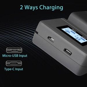 Image 5 - PALO NP FW50 kamera pil şarj cihazı npfw50 fw50 LCD USB çifte şarj makinesi için Sony A6000 5100 a3000 a35 A55 a7s II alfa 55 alfa 7 Bir
