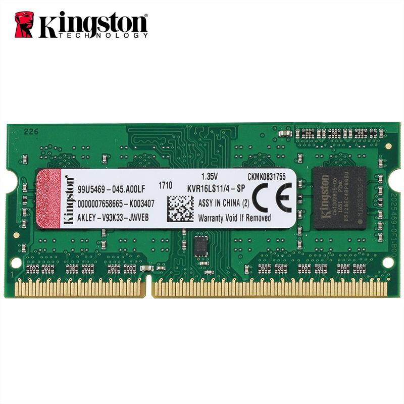 Kingston DDR3 8 gb RAM 4 GB 1600 Mhz Memoria béliers ddr 3 4 gb Bâtons ddr3 1600 ddr3l dimm pour Ordinateur Portable Gaming HD Vidéo 4 K Mémoire Ram