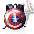 Famosa marca de la escuela Marvel los vengadores capitán américa Iron Man moda mochilas portátiles alta calidad de cuero
