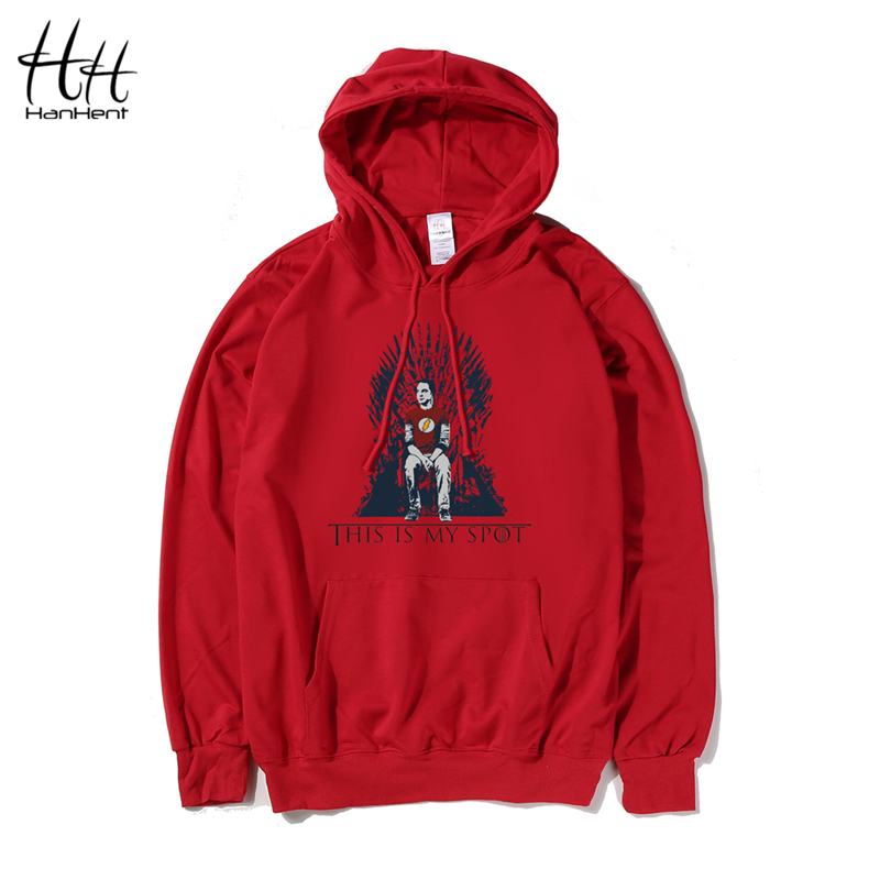 HanHent The Big Bang Theory Hoodies This Is My Spot Games Of Thrones Men Autumn Thin Sweatshirts Top Tees Casual Man Clothing