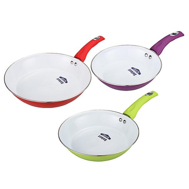 3pcs /1pcs frying pan set 24cm/26cm/28cm Ceramic Pan Nonstick Frying Pan Ceramic Fry Egg Pan