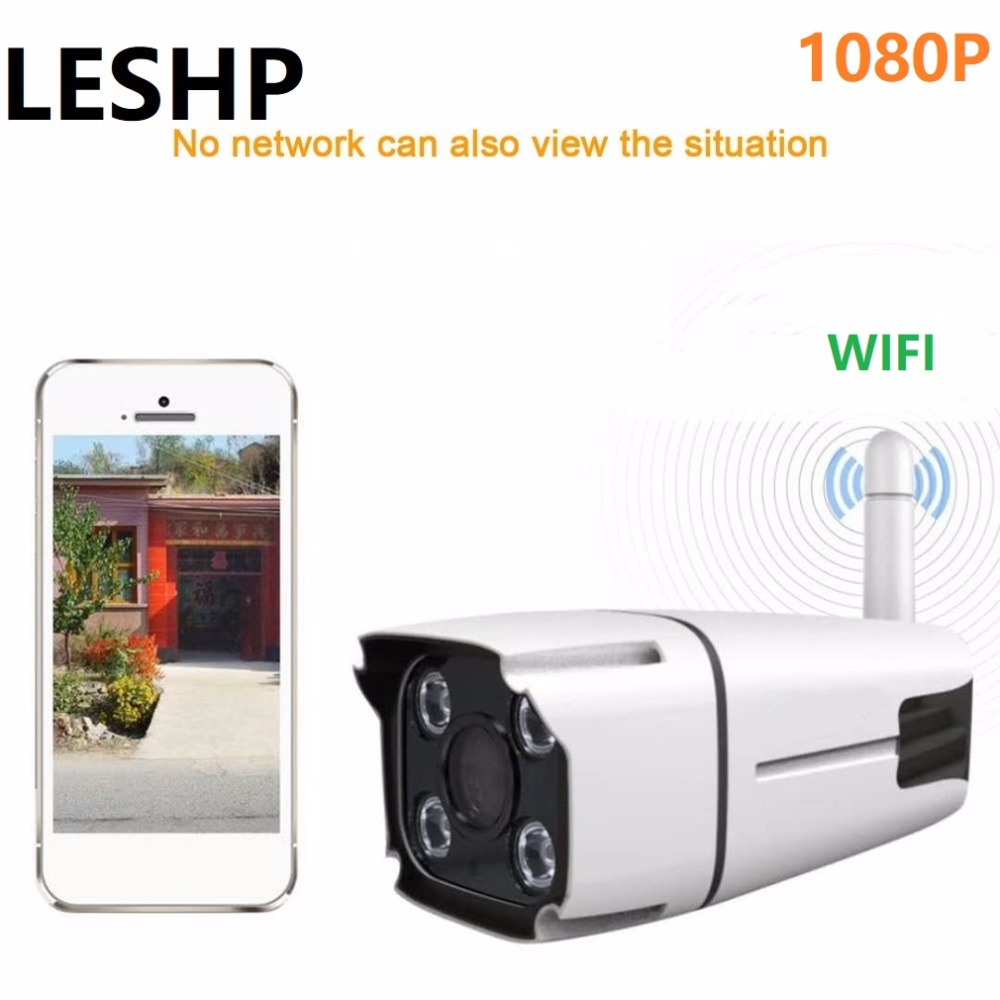 HD 1080P Video Surveillance Wifi IP Camera Full-color Night Vision IP Camera Waterproof IP67 Home Security APP Remote Monitor leshp wireless surveillance camera waterproof ip67 960p full color night vision ip camera home security via app remote control