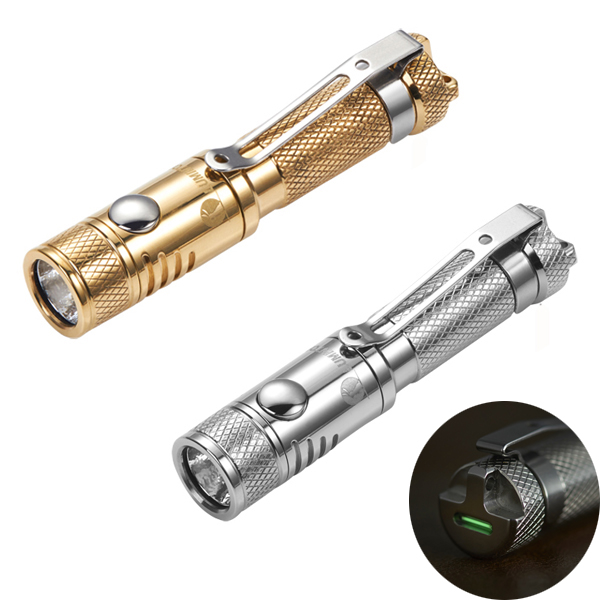 Lumintop Ant Stainless Steel/Brass XP-G2 R5 120LM EDC Mini LED Flashlight+Tritium By AAA Batteries For Hunting