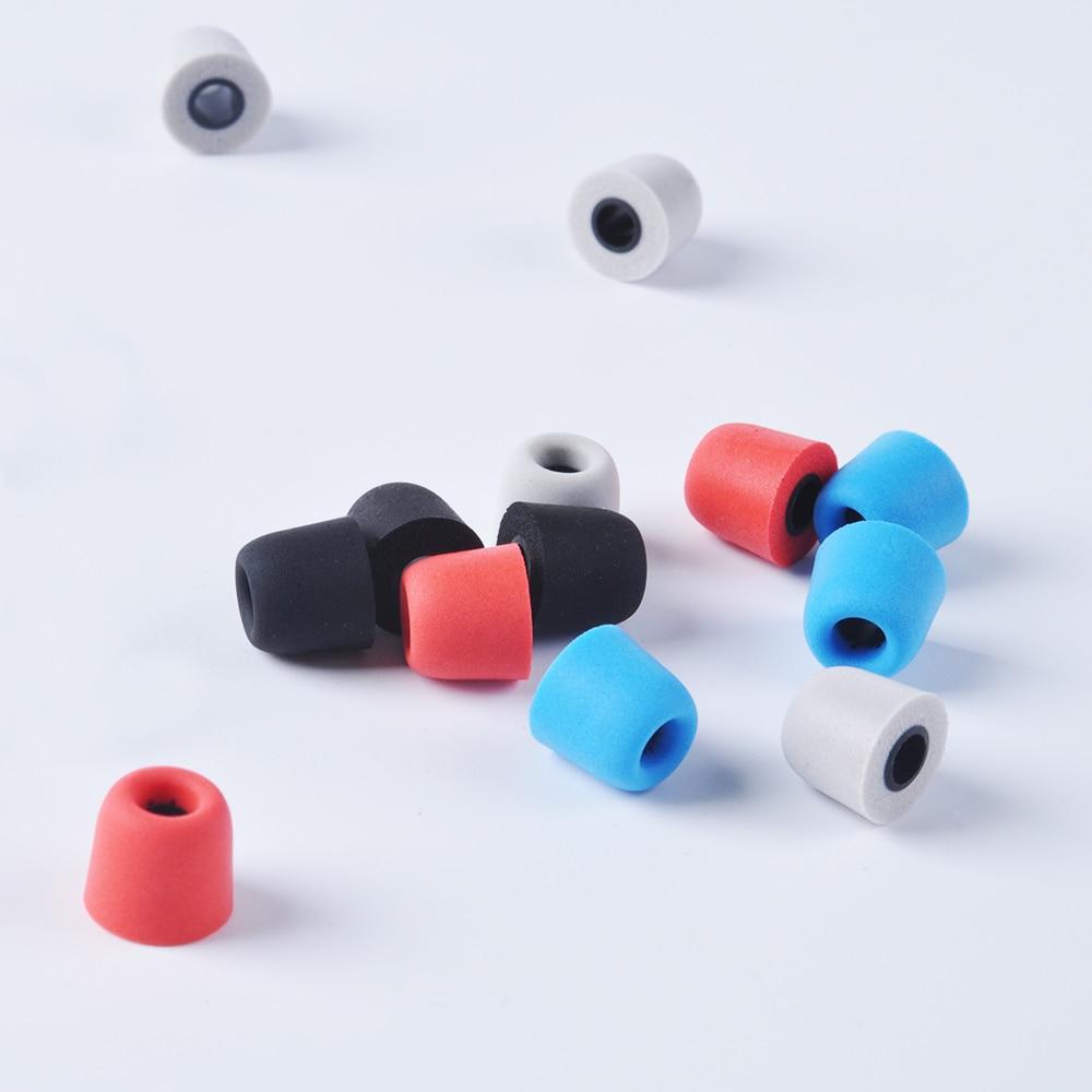 2 Pairs Black Earbud Memory Foam Tips Eartips For Most IN-EAR Earphones