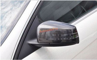 Углеродного волокна Боковая дверь зеркало заднего вида крышки отделка для Mercedes Benz C Class W204 2010 2011 2012 2013