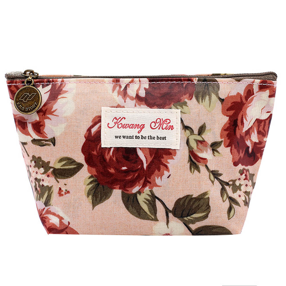New Bag Women Coin Purse Vintage Floral Printed Women Make Up Bags Travel Bag Make Up Pouch Coin Bag Girls Purse