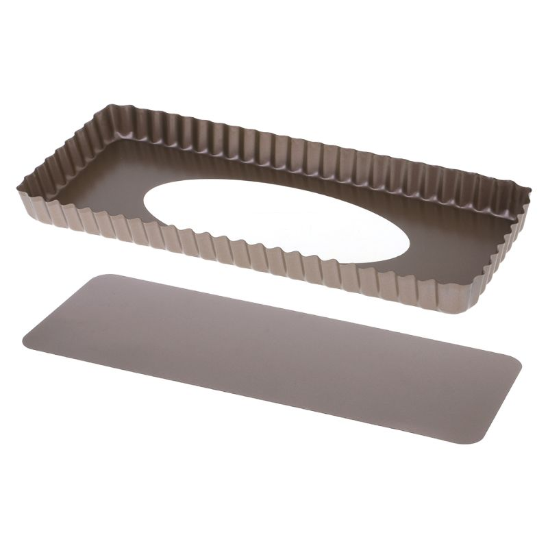1 pcs Fluted Pie Tart Pan Mold Baking Removable Bottom Nonstick Quiche Tools Rectangle Best seller