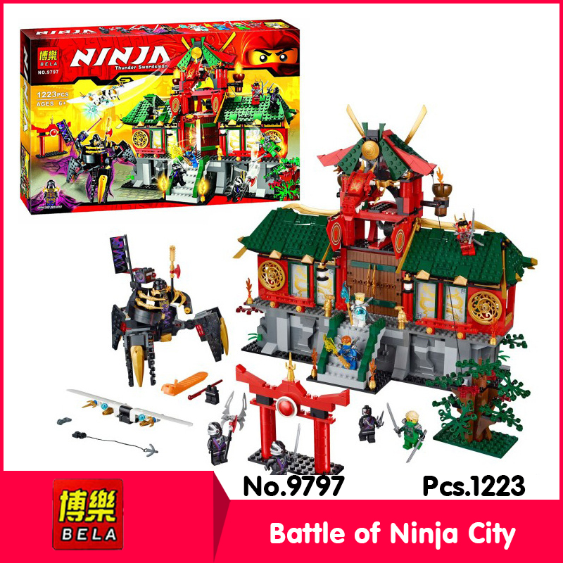 ФОТО Bela 9797 1223pcs Ninja Series  original box Summer racetrack Model Building Blocks Bricks   70728 Gift