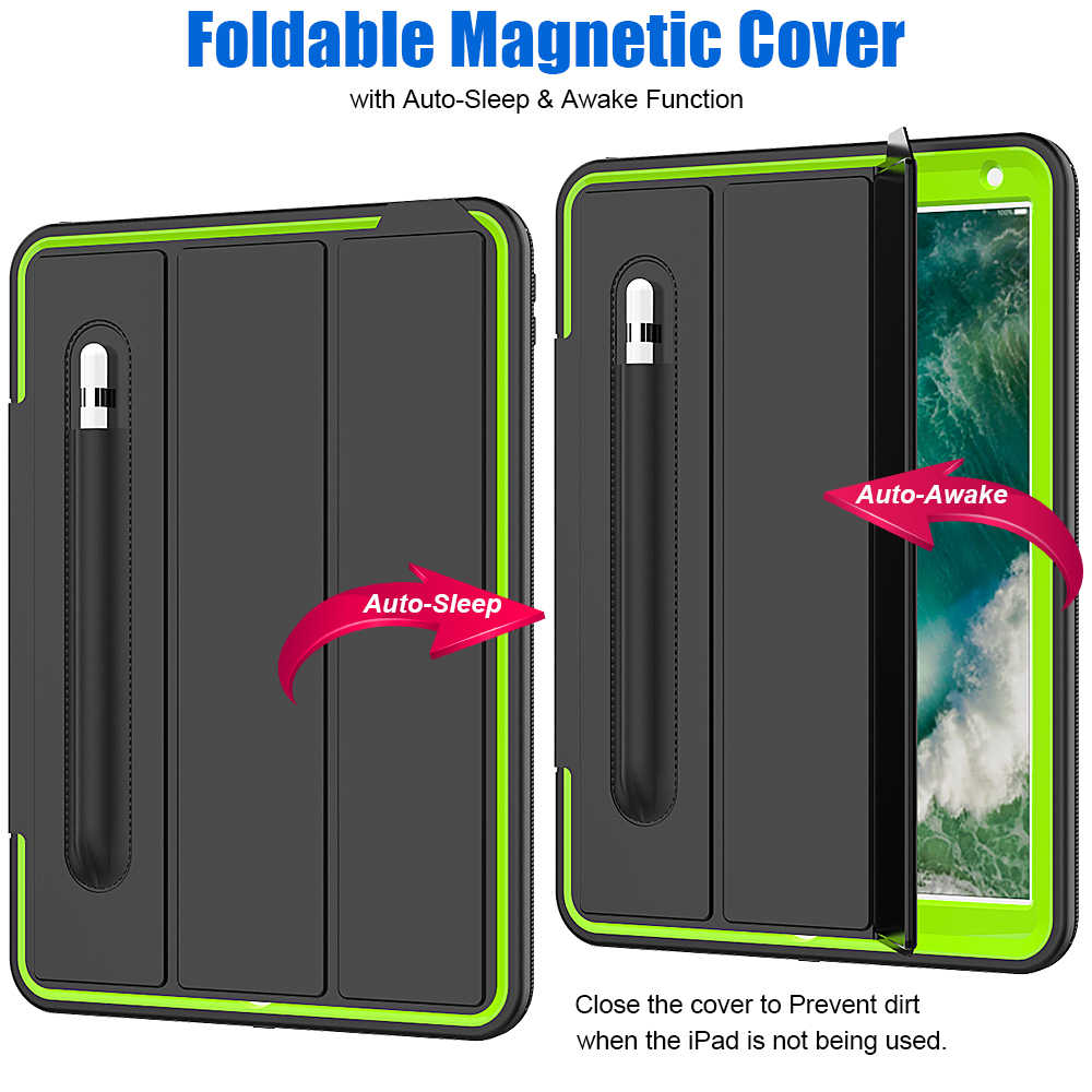 Waterproof Shock Sand Proof Case For iPad pro 10.5 tablet Army Heavy Duty Kickstand Cover For ipad Air 3 10.5 inch 2019