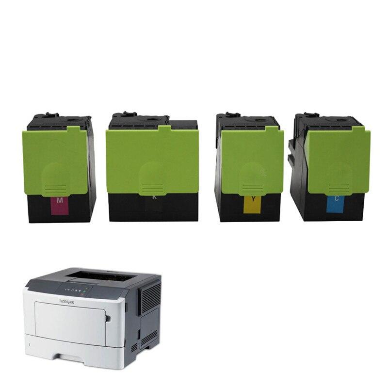 Z tonerem 310 do Lexmark CX 310 kaseta z tonerem z oryginalnym stabilny układ CX310 410 510 dla Lexmark CS310 CX410 CX510 drukarka laserowa w Kasety z tonerem od Komputer i biuro na title=