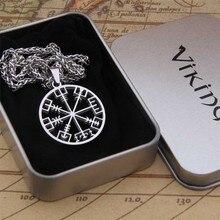 Прямая поставка, Новое поступление, нержавеющая сталь, Викинг, Скандинавское ожерелье с подвеской в форме руны, мужской подарок