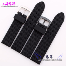 Reloj a prueba de agua cinta de silicona y banda de goma puede ser utilizado para hombres y mujeres miran con 22 mm negro