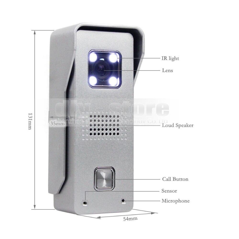 Diysecur 7 видео Дверные звонки для дома безопасности и домофон Алюминий сплав Камера 700TVL