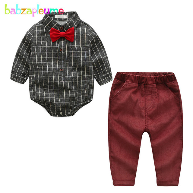 6749145fb0b1 2Piece Newborn Outfits Set Spring Fall Wear Baby Boys Clothes Long ...