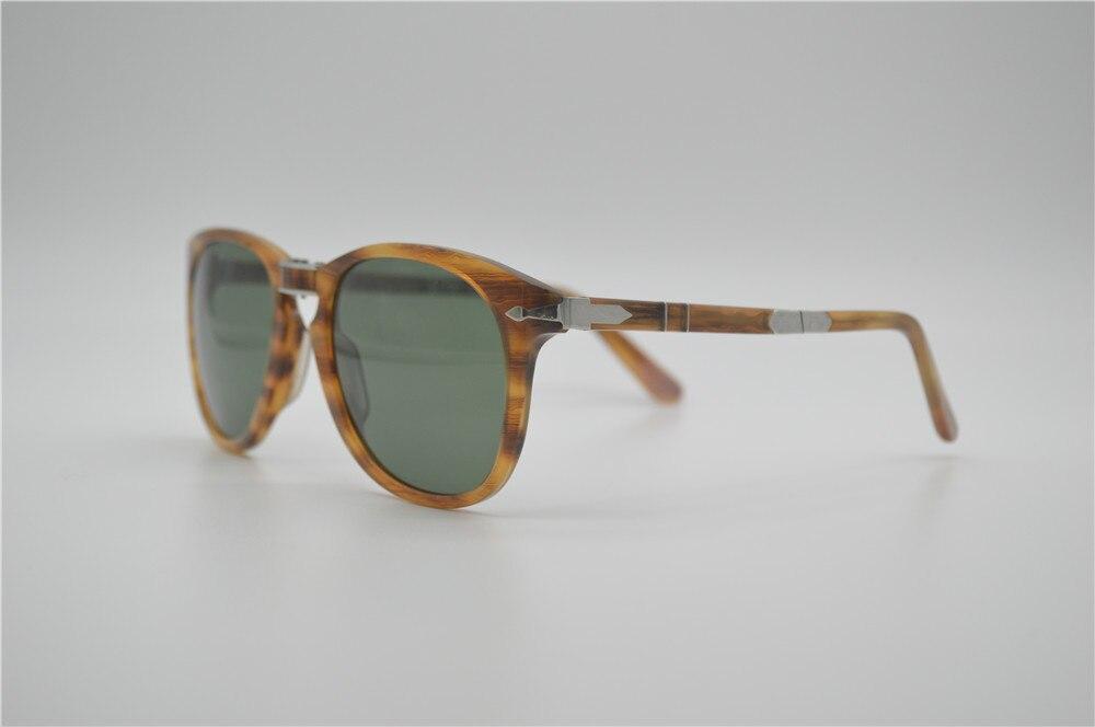 460a44c01036a O envio gratuito de famosa marca de alta qualidade óculos persol EyeGlow 714  óculos de sol para homens lente de vidro dobrável Retro sunglasse em Óculos  de ...