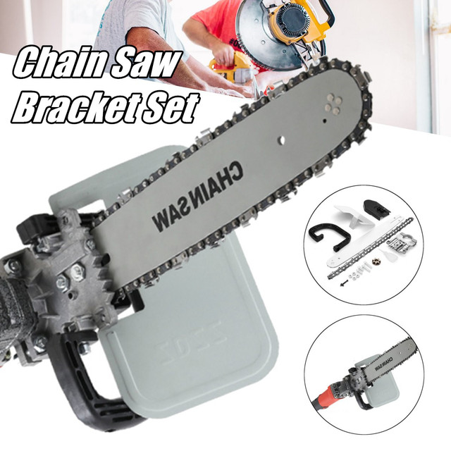 Upgrade 16 Inch DIY Chain Saw Adapter Bracket Changed Angle Grinder Into DIY Chain Saw Woodworking Tool 1