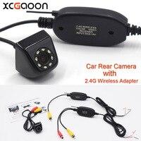 XCGaoon Klasik CCD HD Araba Dikiz Kamera Geniş Açı Su Geçirmez 8 LED ile 2.4G Kablosuz Verici Alıcı Modülü adaptörü