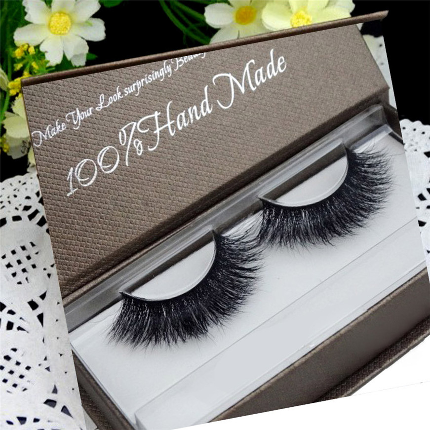 2017 A@ Hot eyelashes Women Soft 3D Mink Hair Simulation Thick Stage Fake Eyelashes G