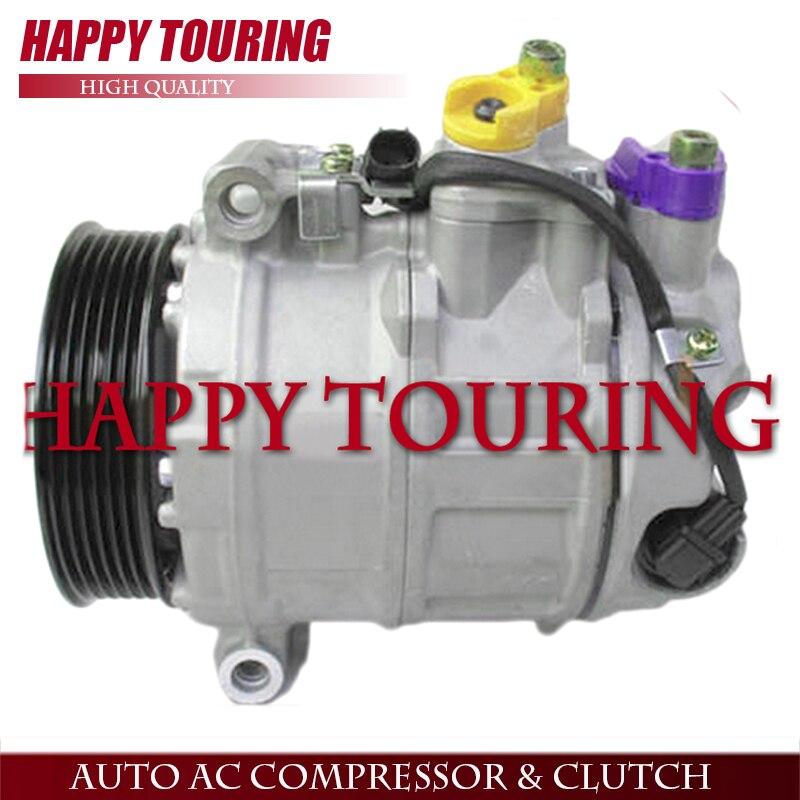 7SEU16C COMPRESSEUR CA Pour Mercedes Classe C W221 W251 W164 Sprinter A0012301411 A0012302811 A0022305411 447170-7004