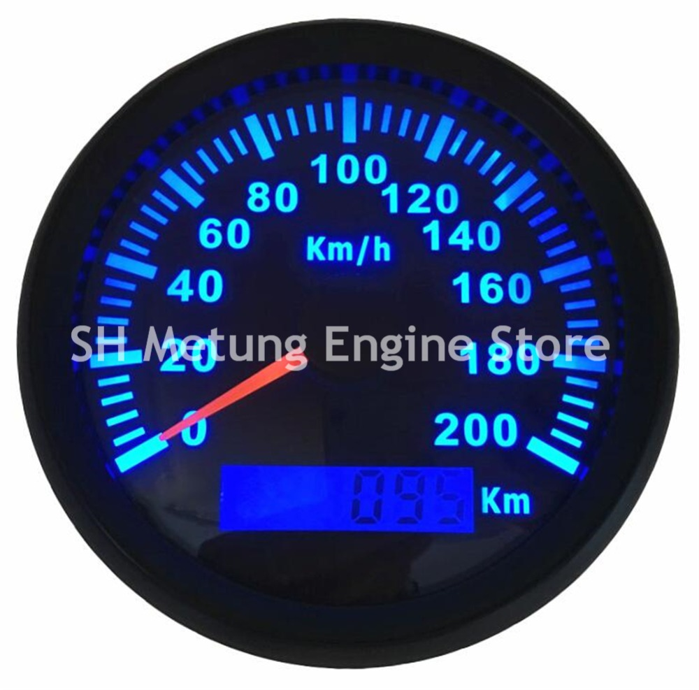 Здесь можно купить  1pc 85mm Auto Tuning Gauges Black GPS Speedometers Ratemeters 0-200km/h with Blue Backlights and Antenna  Автомобили и Мотоциклы