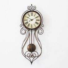 Meijswxj 8 inches Wall Clock Saat Relogio de parede Digital Clock Reloj Duvar saati Retro Living