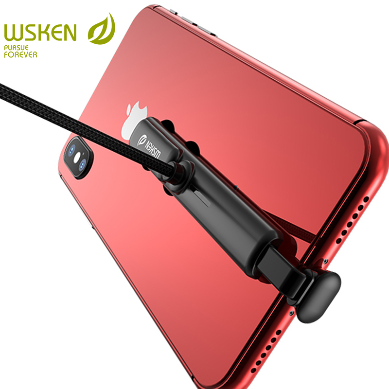 Cabo de dados de carregamento rápido do cabo de dados do usb do carregador do jogo de wsken para o iphone 6s 6 7 8 micro tipo c para cabos de carga do telefone móvel de samsung