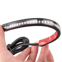 Motorcycle Flexible Strip Tail Brake Stop Turn Signal License Plate Light Integrated 3528 Pasted 32 LED