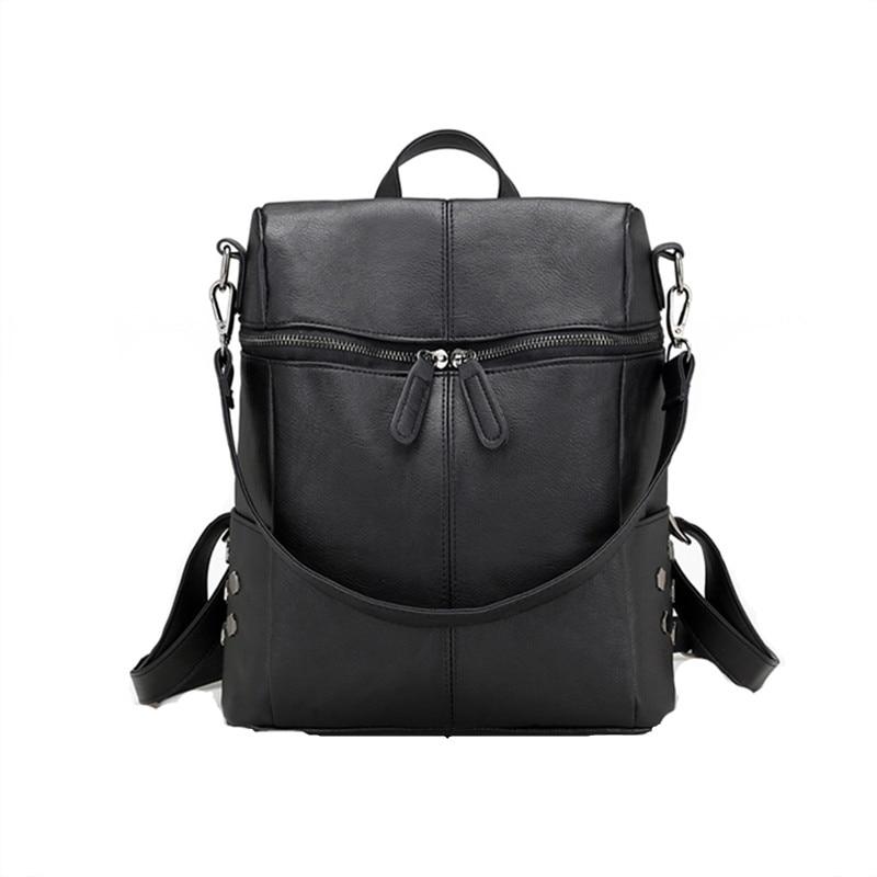Preppy Style vintage women backpack nubuck leather+PU school backpacks for teenage girls casual large capacity shoulder bags