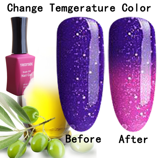 natural pure Healthy brand-Arganoil Temperature Thermal Color Change nail gel polish need uv led lamp to cure green safe healthy