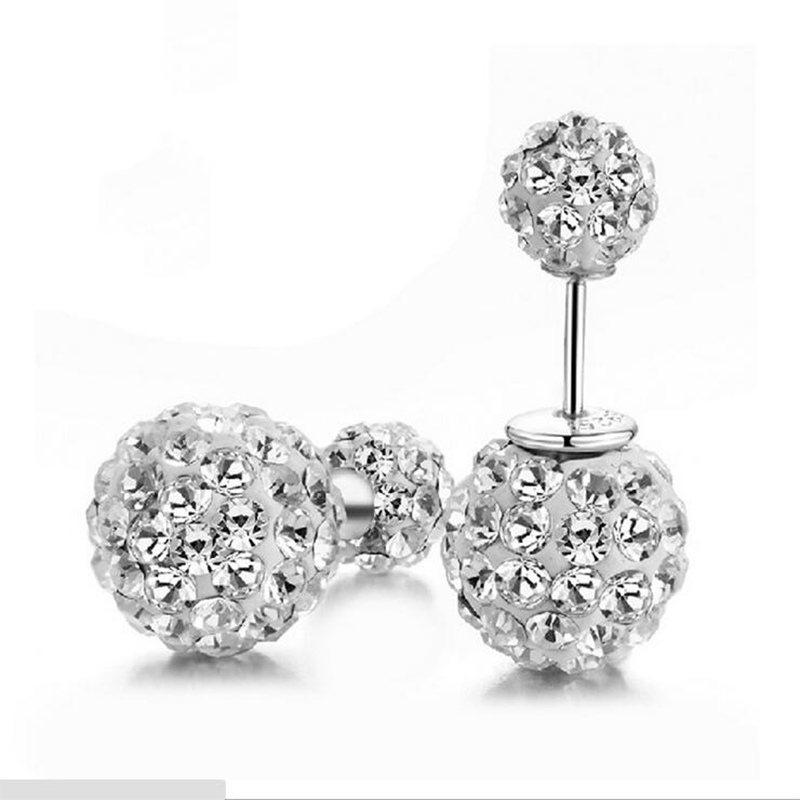 Double Face Earrings Fashion Jewelry Earrings Imitation Ball For Women Small Candy Top Quality Fresh E549