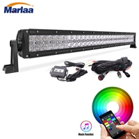 32 180W RGB 5D Led Light Bar 5D Combo Beam Offroad Led Bar with Mounting Brackets & Wiring Harness APP Control