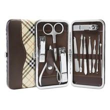ANLAN маникюрные наборы для ногтей 12 шт./компл. маникюрные инструменты для ногтей набор клипер для ногтей Ножницы Пинцет Нож маникюрные наборы с чехлом