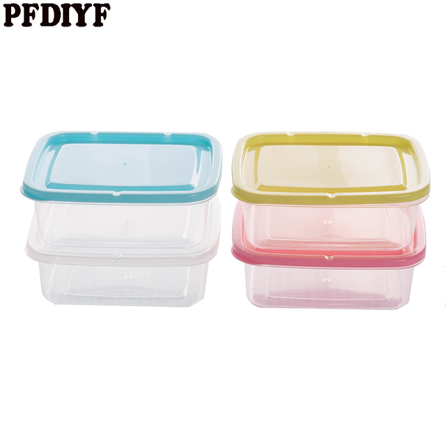 Portable Square PP 350ml Food Container Bento Lunch Box Refrigerator Fresh Food Storage Boxes Transparent Sealed  sc 1 st  AliExpress.com & Portable Square PP 350ml Food Container Bento Lunch Box Refrigerator ...