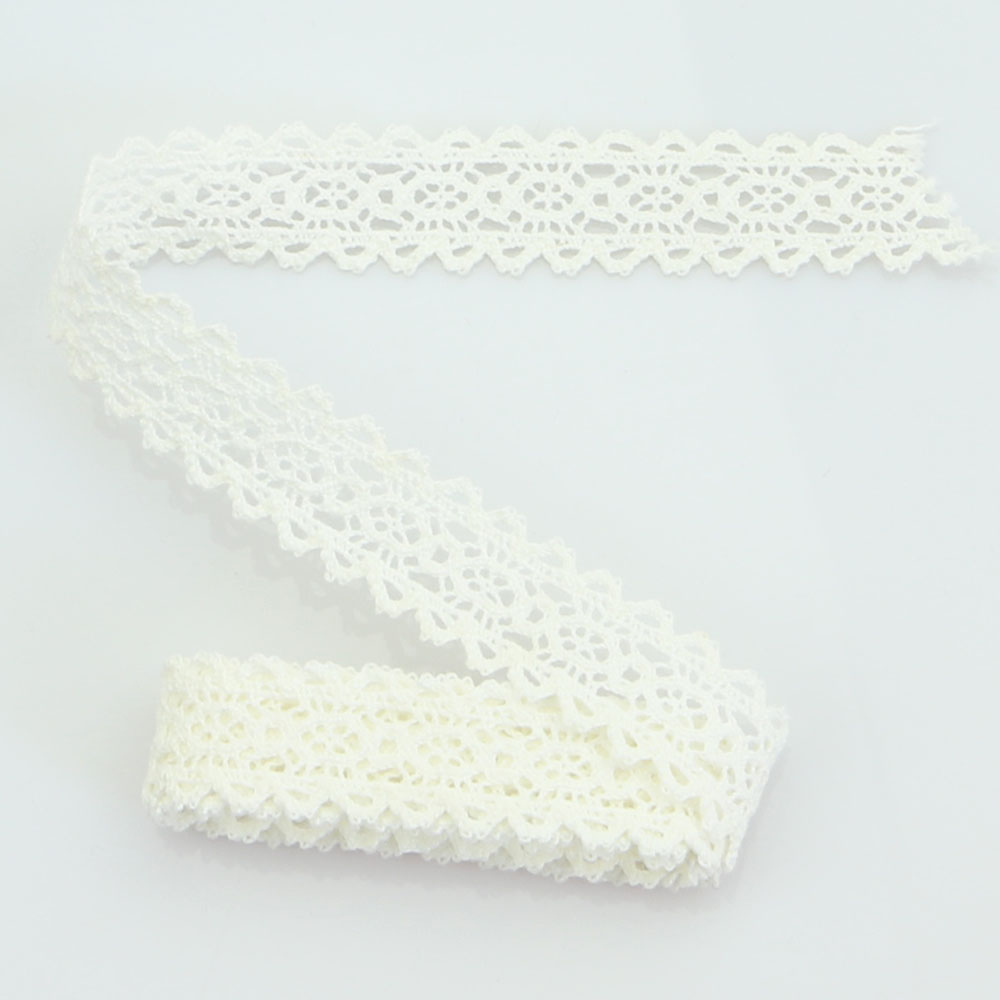 HTB1FqPOmv6H8KJjy0Fjq6yXepXaA 4YARD Apparel Sewing Fabric DIY Ivory Cream Black Trim Cotton Crocheted Lace Fabric Ribbon Handmade Accessories Craft 11021