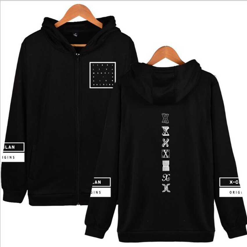 Moletom KPOP Monsta X Hoodies Member Name I.M JOOHEON MINHYUK SHOWNU Harajuku Hooded Zipper Sweatshirt Women Tumblr Clothing