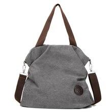 Фотография 2017 new women canvas bag women canvas shoulder bag messenger bag high-capacity travel bag designer brand Ms. Messenger bag